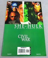 SHE-HULK #8 (Civil War Tie-In) VF/NM 9.0 shape Marvel Comics 2006