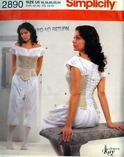 Sewing PATTERN Misses Historical Undergarments Chemise Corset Drawers 16-24