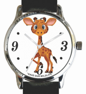 """""""Save Our Wildlife""""-Giraffe Image Watch has Black Strap And Donation to AWF"""