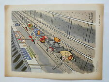 TRAFFIC RESTREINT LE TRAIN DE PARIS  DESSIN vichy 1943 caricature politique