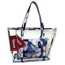 Neu Fashion Freizeit Stoffdruck Sandstrand Handtasche Durchsichtig Umhängetasche