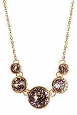 Swarovski Elements Crystal Brilliance Dots Pendant Necklace Gold Plated 7261Gy