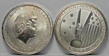2 Coins 2013 Australia Silver 50 Cents Australian/American Memorial Raw 1/2 oz
