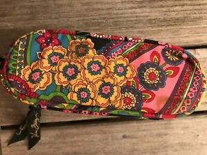 Vera Bradley Soft Zippered Floral Eyeglass Case daisy mod pattern floral