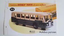 Dinky Toys Atlas - Fascicule SEUL de l'Autobus Parisien Somua (Booklet only)