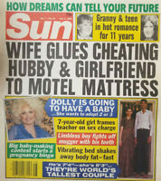 Sun Tabloid Magazine July 11 1989 Dolly Parton - Teacher Sex Charge Frame - Teen