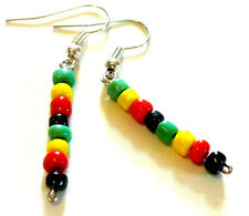 BOUCLES D'OREILLES RASTA REGGAE BOB MARLEY JAMAIQUE EARRINGS