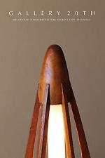 MID CENTURY DANISH MODERN ROCKET LAMP! Eames Atomic UFO 50s 60s VTG Saucer Wood