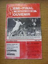 07/02/1978 Football League Cup Semi-Final: Liverpool v Arsenal  (folded, creased