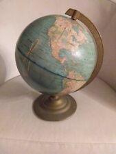 """Vintage Geo F Cram 8"""" Inch Terrestrial Desktop Tabletop Globe - Early 1960's ?"""