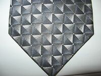 Van Heusen 58 x 3.75 Black Gray SILK Necktie Tie (13081) Free US Ship
