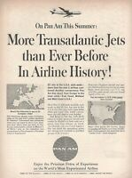 1962 Original Advertising' Pan-Am American Airline Company Aerial History