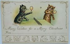 More details for louis wain. many wishes for a merry christmas. cats playing table tennis.