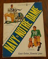 Navy Notre Dame Official Football Program October 29 1955 Notre Dame Stadium