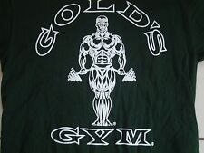 Gold's Gym Body Builder Athletic Workout Green T Shirt Adult Size M