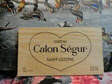 2016  CHATEAU CALON SEGUR SAINT ESTEPHE LE MEDOC  WOOD WINE PANEL END