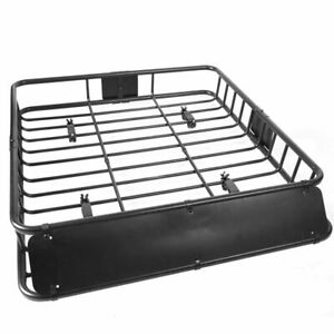 "Universal 42"" x 37"" x 4"" Roof Rack Car Top Cargo Basket Carrier 150 lb capacity"