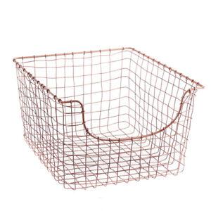 Copper Woven Wire Mesh Basket Magazine Newspaper Organiser Storage Log Basket