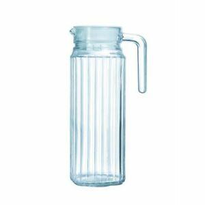 1L Litre Fridge Jug Square Glass Pitcher Juice Water Pouring Glassware Drinks
