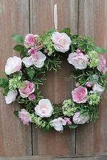 GISELA GRAHAM EASTER WEDDING PARTY SHABBY CHIC COUNTRY VINTAGE ROSE WREATH
