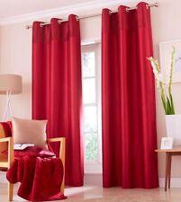 "Catherine Lansfield Opulent Velvet Curtains 66x54"" - Red"