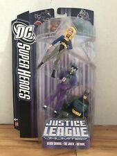 DC JUSTICE LEAGUE UNLIMITED: BLACK CANARY/THE JOKER/BATMAN Figures Mattel