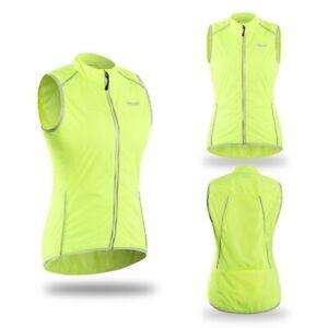 Women Cycling Vest Windproof Sleeveless Bicycle Jersey Hiking Reflective vest