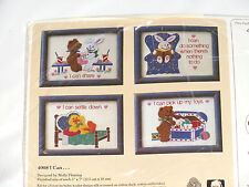 Cross stitch kit  with yarn  I Can... (#4008) The Creative Circle 1988