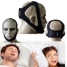 Anti Snore Jaw Strap Stop Snoring Solution Chin Support Strap Apnea Belt Black C