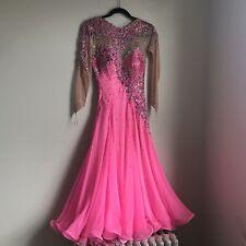 Randall Christensen Ballroom Gown Dance Dress DWTS Hot Pink Crystal Women's 4-6