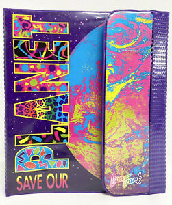 "Vintage 1990's Lisa Frank "" Save Our Planet"" Trapper Keeper Binder"