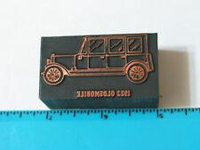 1923 Oldsmobile Automobile Printers Block - (lg) RARE letterpress