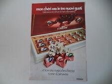 advertising Pubblicità 1974 FERRERO MON CHERI