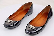 Marc by Marc Jacobs Women's Black Leather Silver Logo Work Flats Size 39 US 9