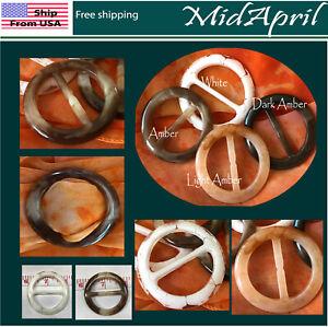 Scarf Ring Buckle Scarf Clip Slide   TRANSLUCENT Natural US seller