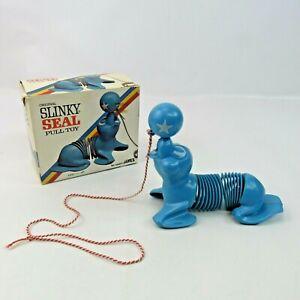 Original Slinky Seal Pull Toy Vintage James Industries Original Box