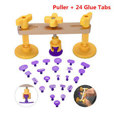 Car Body Dent Paintless Repair Removal Puller PDR Tool +24pcs PDR Glue Tabs Pad