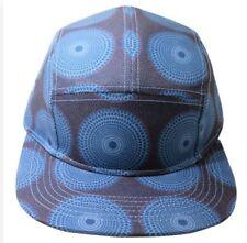 Men's Printed Five Panel Havanna Adjustable Hat Cap ONE SIZE NWT BLUE / Purple