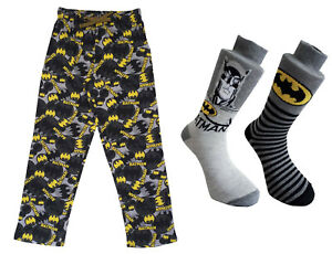 Mens Batman Loungepants and 2pk Socks Gift Pack Christmas Deal Stocking Filler