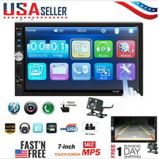 7 Inch DOUBLE 2DIN Car MP5 Player BT Touch Screen Stereo Radio HD + Camera B1D9