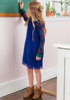 New Matilda Jane JINGLE JANGLE Dress 10 Girls Blue Tulle Floral Make Believe NWT