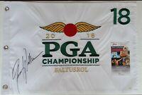 Jimmy Walker Signed 2016 PGA Championship Golf Pin Flag Autographed JSA COA