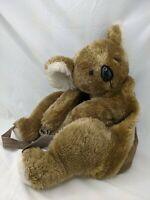 "Hug a Pet Koala Bear Plush Purse Backpack 18"" Stuffed Animal Toy"