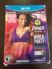Zumba Fitness World Party w/ Belt for Wii U New Factory Sealed! *Damaged Box*