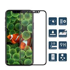 3d Cristal Protector 9h para Apple iPhone x 10 Negro Vidrio Templado 4d