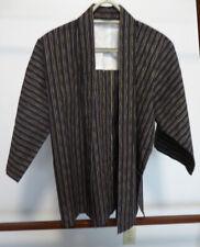 Vintage Japanese Striped Jacket, Hanten, Haori, Noragi