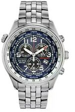 Citizen AT0361-57L Eco-Drive Chronograph Silver-Tone STLST Men's Watch NWT $350