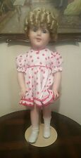 """Stunning Kestner Doll Shirley Temple """"Stand Up And Cheer"""" By R Morris (Repro)"""