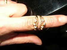 14k Yellow Gold Vint 1980's Natural Diamond Wedding Ring Guard or insert 14kt