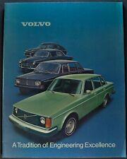 1975 Volvo Catalog Sales Brochure 164 E 264 242 244 GL Excellent Original 75